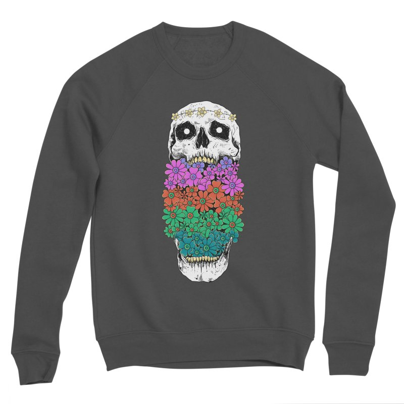 Skull Anatomy of Hippie Men's Sponge Fleece Sweatshirt by godzillarge's Artist Shop