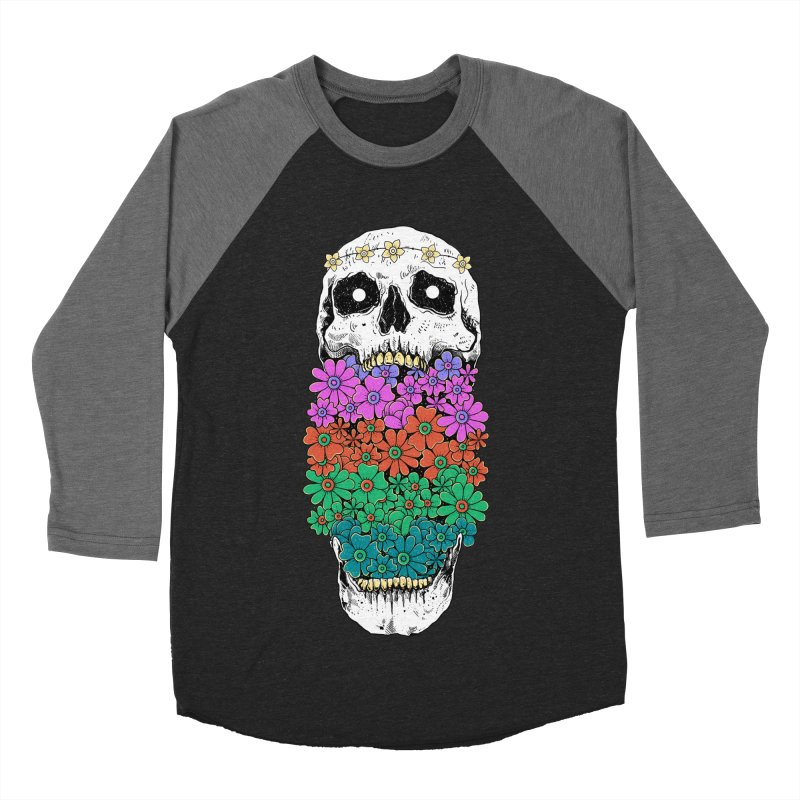Skull Anatomy of Hippie Women's Baseball Triblend Longsleeve T-Shirt by godzillarge's Artist Shop