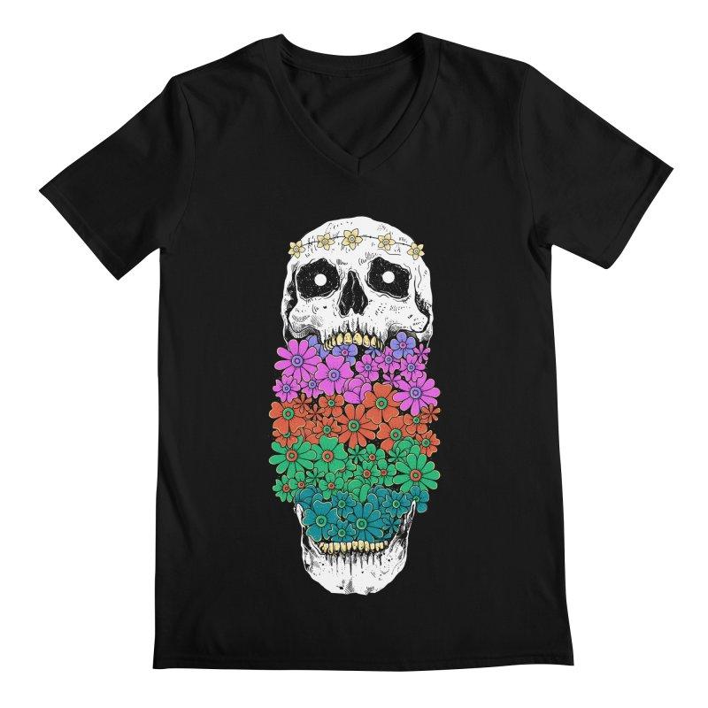 Skull Anatomy of Hippie Men's Regular V-Neck by godzillarge's Artist Shop