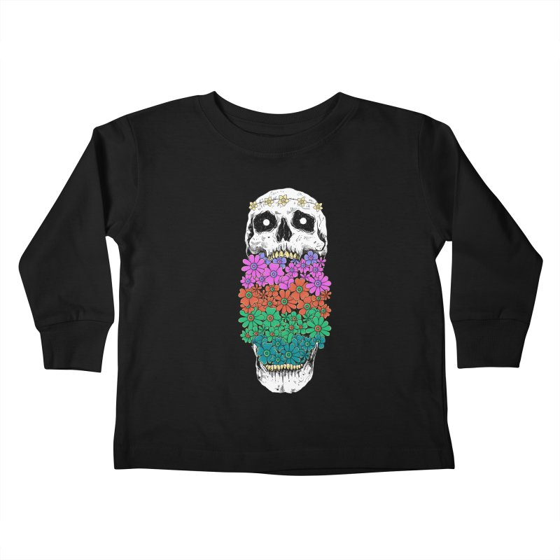 Skull Anatomy of Hippie Kids Toddler Longsleeve T-Shirt by godzillarge's Artist Shop