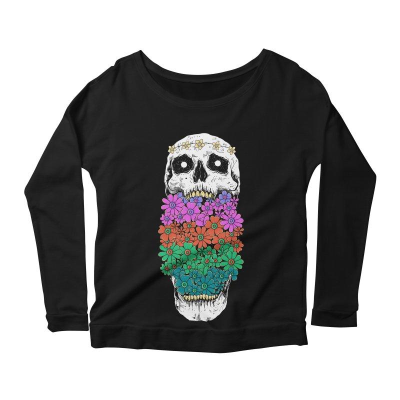Skull Anatomy of Hippie Women's Scoop Neck Longsleeve T-Shirt by godzillarge's Artist Shop
