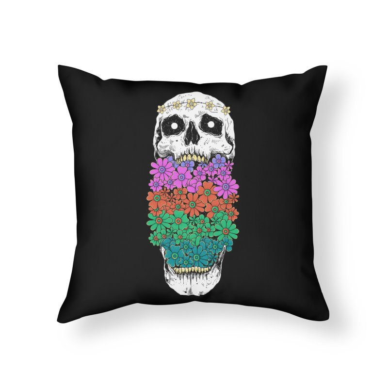 Skull Anatomy of Hippie Home Throw Pillow by godzillarge's Artist Shop