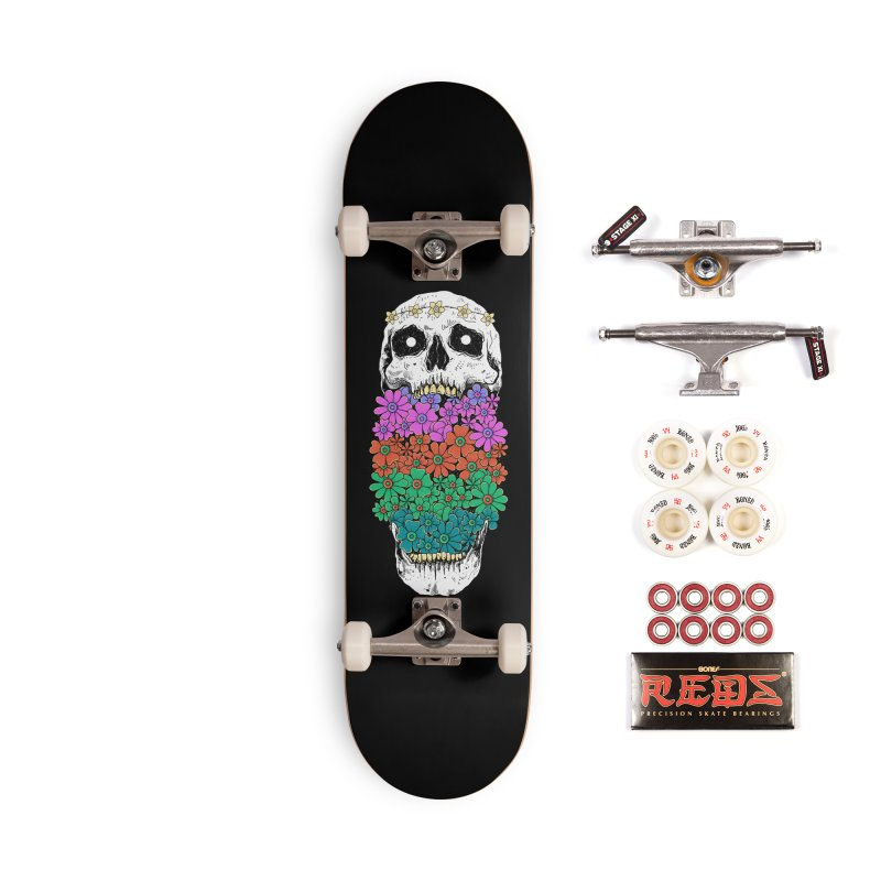 Skull Anatomy of Hippie Accessories Complete - Pro Skateboard by godzillarge's Artist Shop