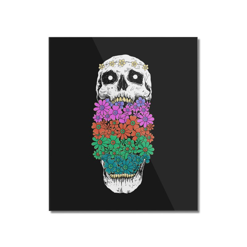 Skull Anatomy of Hippie Home Mounted Acrylic Print by godzillarge's Artist Shop