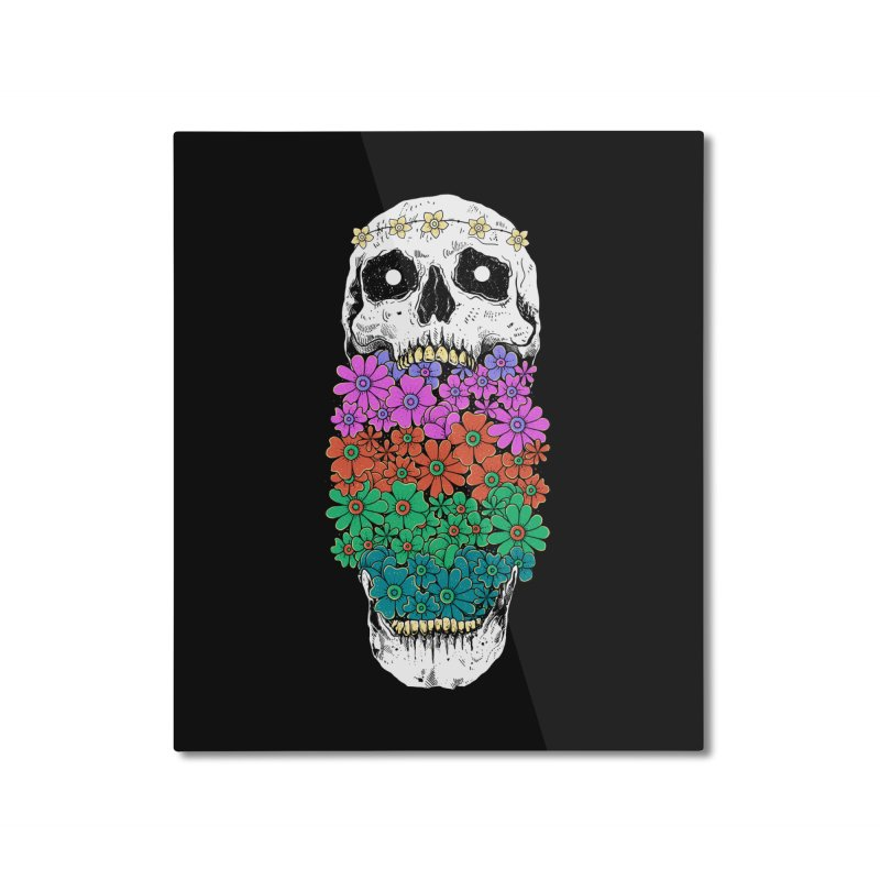 Skull Anatomy of Hippie Home Mounted Aluminum Print by godzillarge's Artist Shop