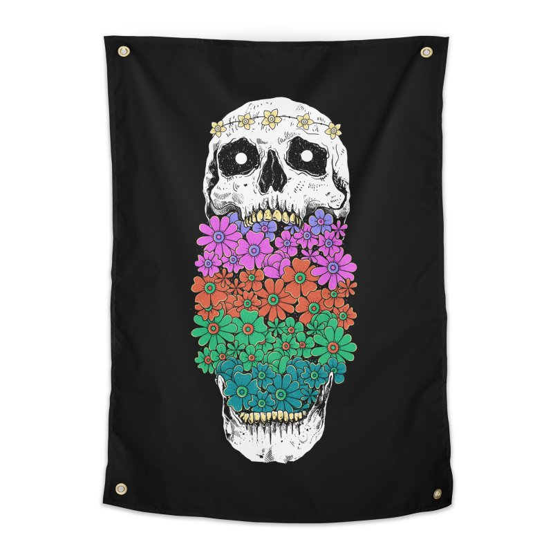Skull Anatomy of Hippie Home Tapestry by godzillarge's Artist Shop