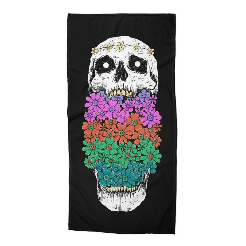 Skull Anatomy of Hippie Accessories Beach Towel by godzillarge's Artist Shop