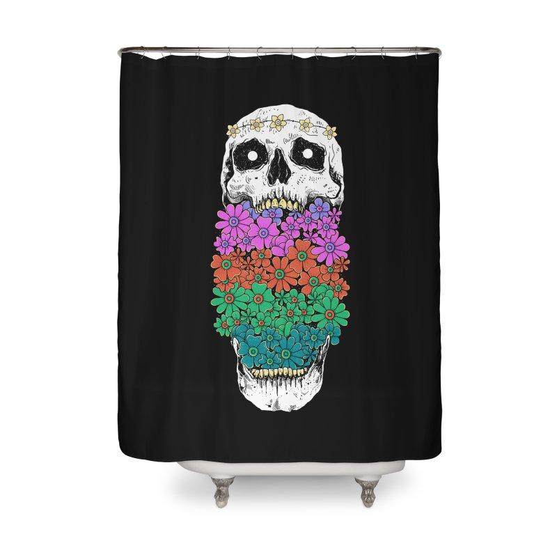 Skull Anatomy of Hippie Home Shower Curtain by godzillarge's Artist Shop