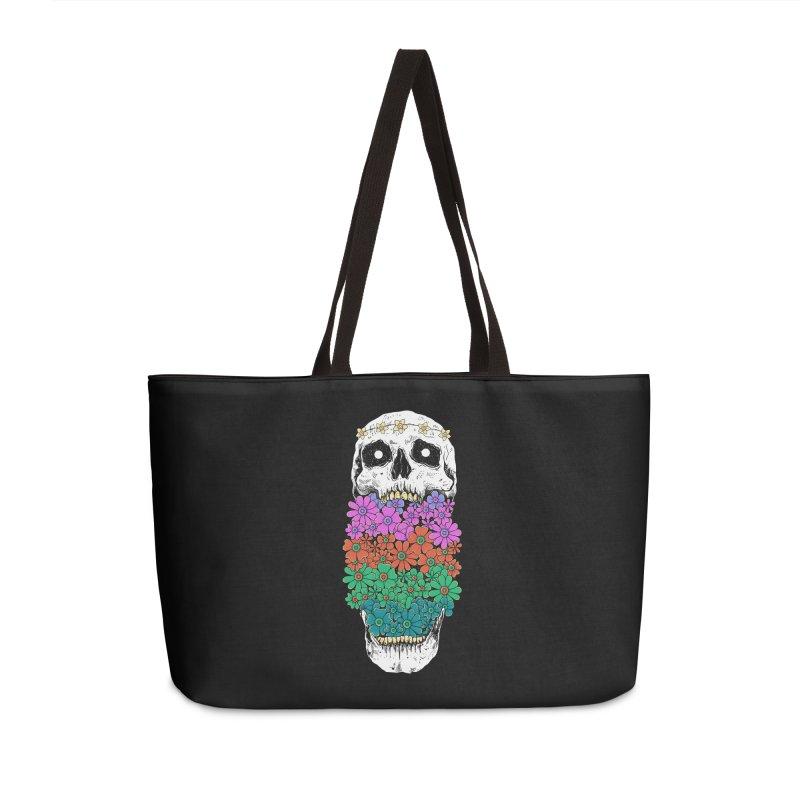 Skull Anatomy of Hippie Accessories Weekender Bag Bag by godzillarge's Artist Shop