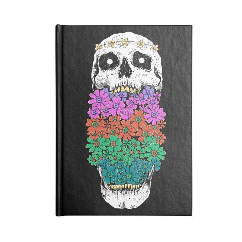 Skull Anatomy of Hippie Accessories Blank Journal Notebook by godzillarge's Artist Shop