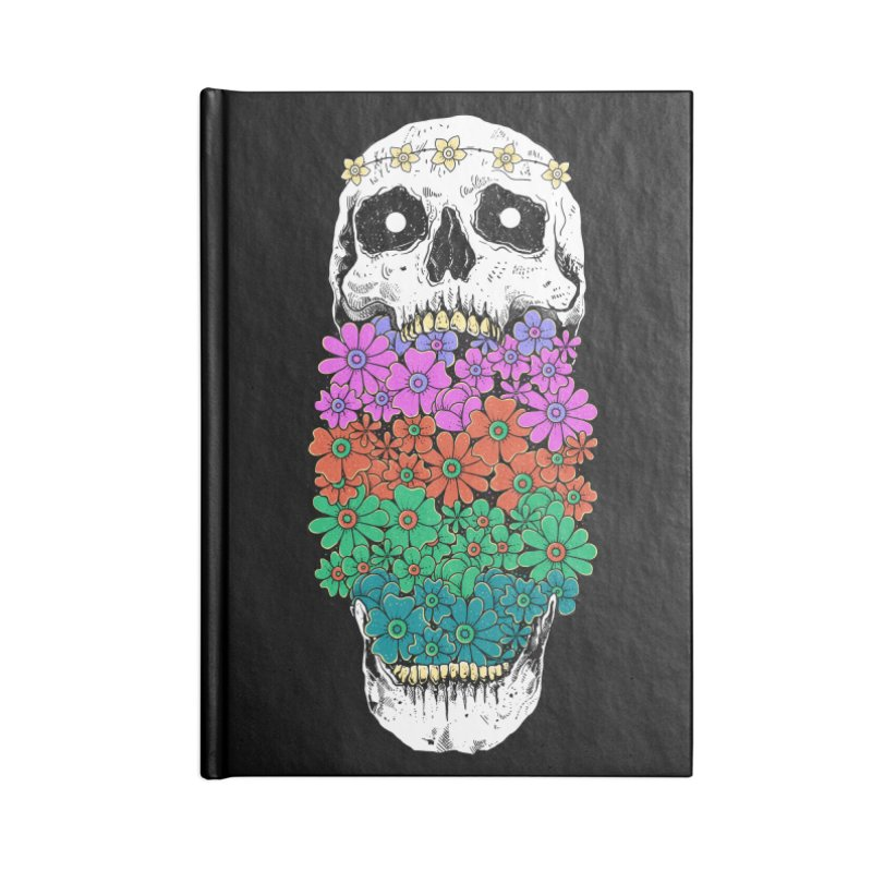 Skull Anatomy of Hippie Accessories Lined Journal Notebook by godzillarge's Artist Shop