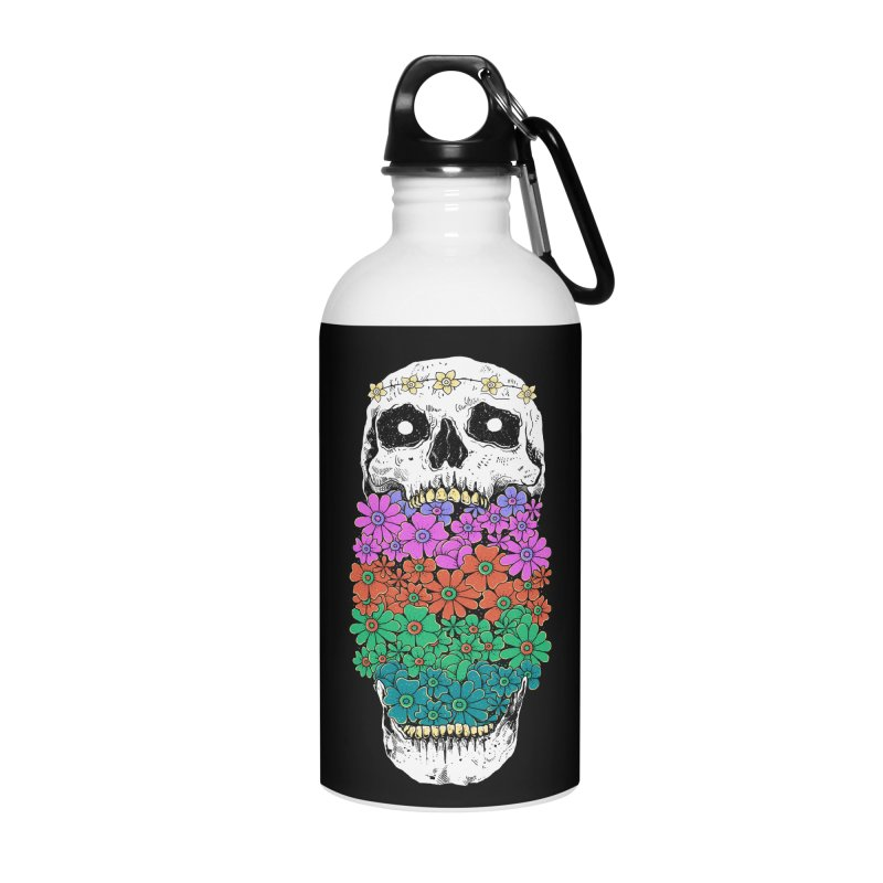 Skull Anatomy of Hippie Accessories Water Bottle by godzillarge's Artist Shop