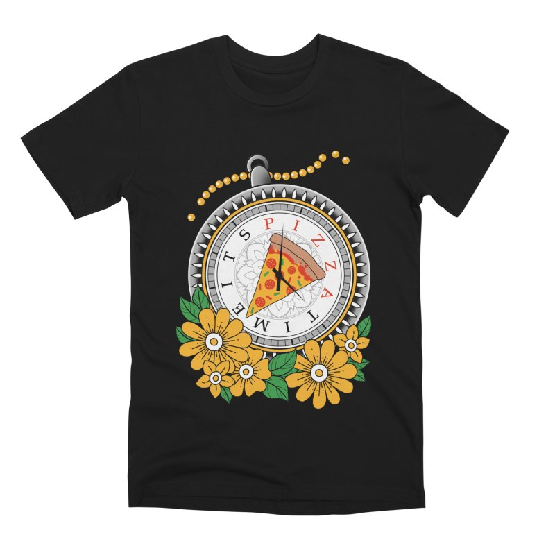 It's Pizza Time Men's Premium T-Shirt by godzillarge's Artist Shop