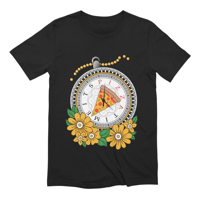 It's Pizza Time Men's Extra Soft T-Shirt by godzillarge's Artist Shop