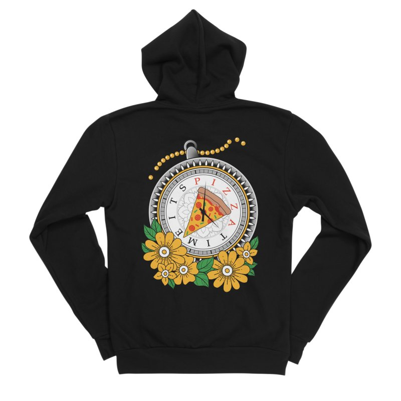 It's Pizza Time Women's Sponge Fleece Zip-Up Hoody by godzillarge's Artist Shop
