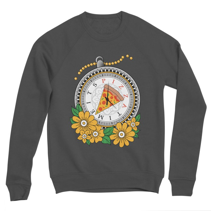 It's Pizza Time Men's Sponge Fleece Sweatshirt by godzillarge's Artist Shop