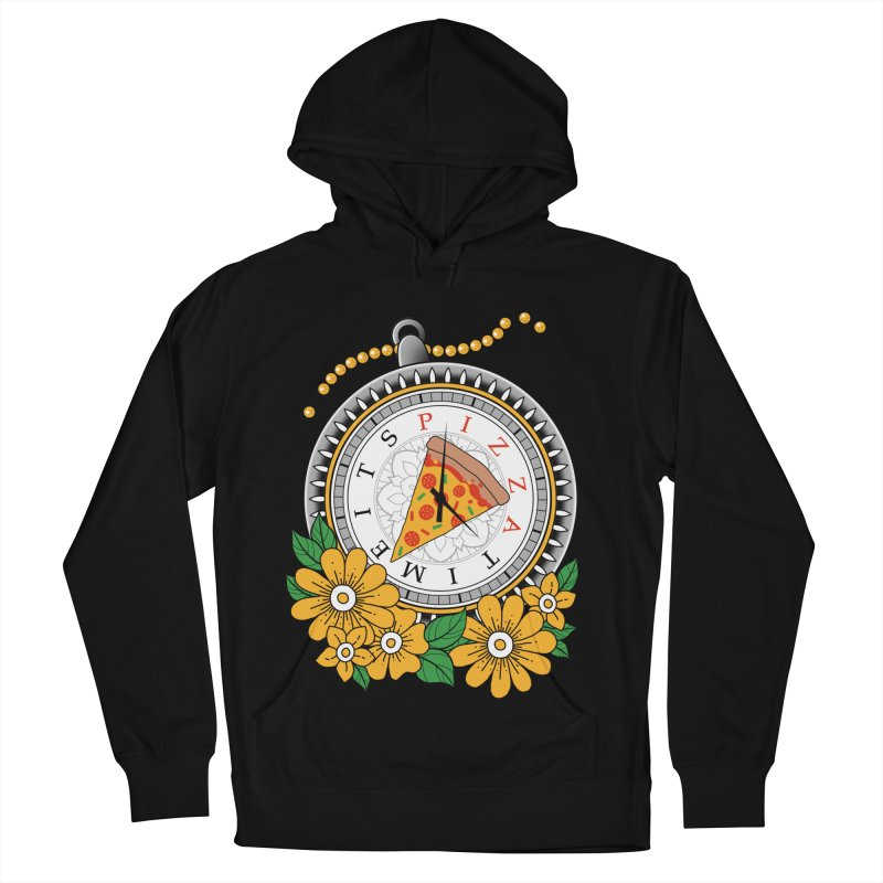 It's Pizza Time Men's French Terry Pullover Hoody by godzillarge's Artist Shop