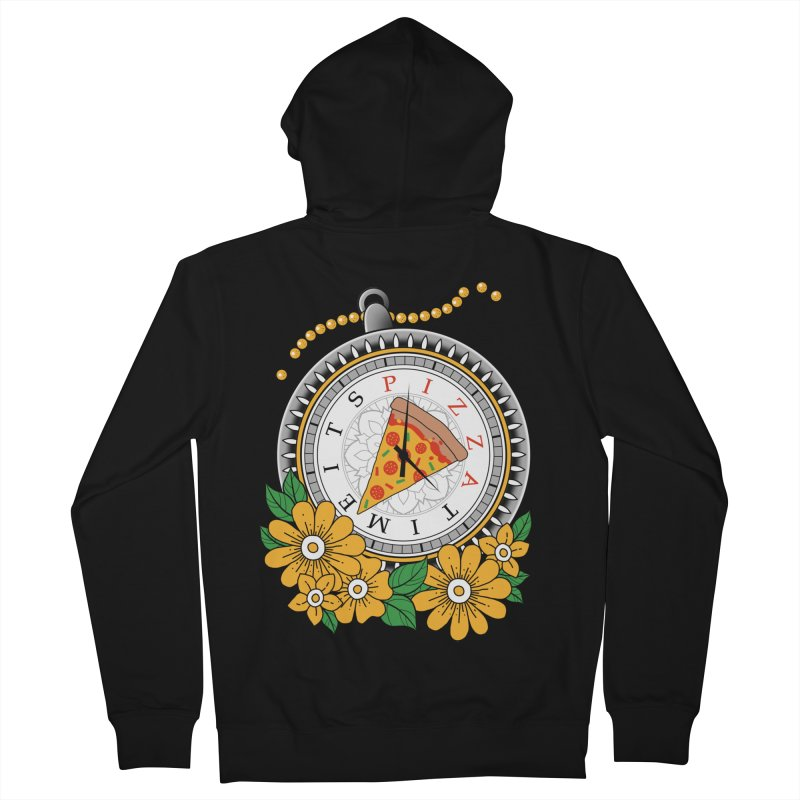 It's Pizza Time Women's French Terry Zip-Up Hoody by godzillarge's Artist Shop
