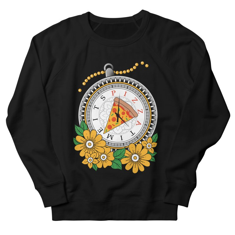 It's Pizza Time Men's French Terry Sweatshirt by godzillarge's Artist Shop
