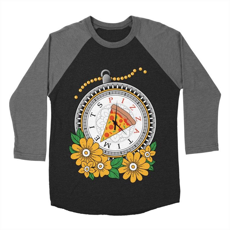 It's Pizza Time Men's Baseball Triblend Longsleeve T-Shirt by godzillarge's Artist Shop