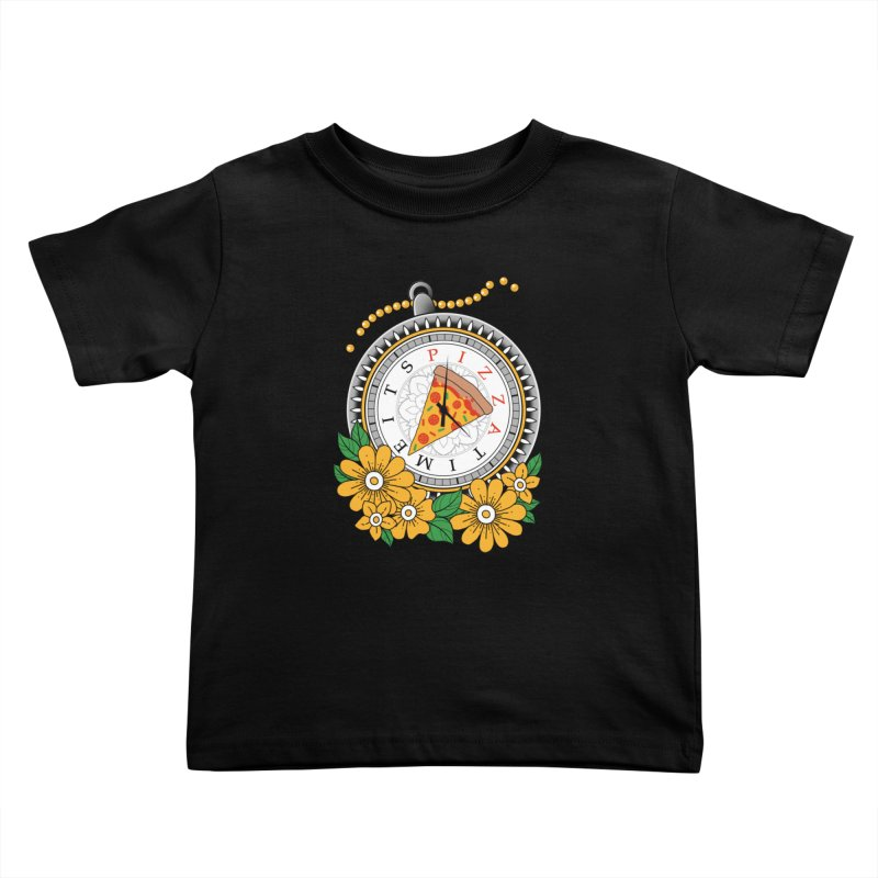 It's Pizza Time Kids Toddler T-Shirt by godzillarge's Artist Shop