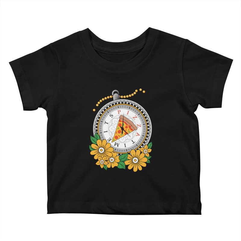 It's Pizza Time Kids Baby T-Shirt by godzillarge's Artist Shop