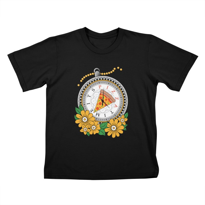 It's Pizza Time Kids T-Shirt by godzillarge's Artist Shop