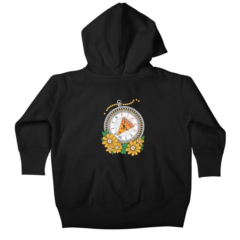 It's Pizza Time Kids Baby Zip-Up Hoody by godzillarge's Artist Shop