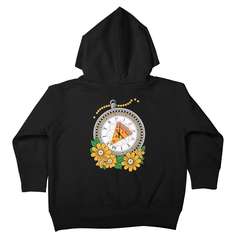 It's Pizza Time Kids Toddler Zip-Up Hoody by godzillarge's Artist Shop