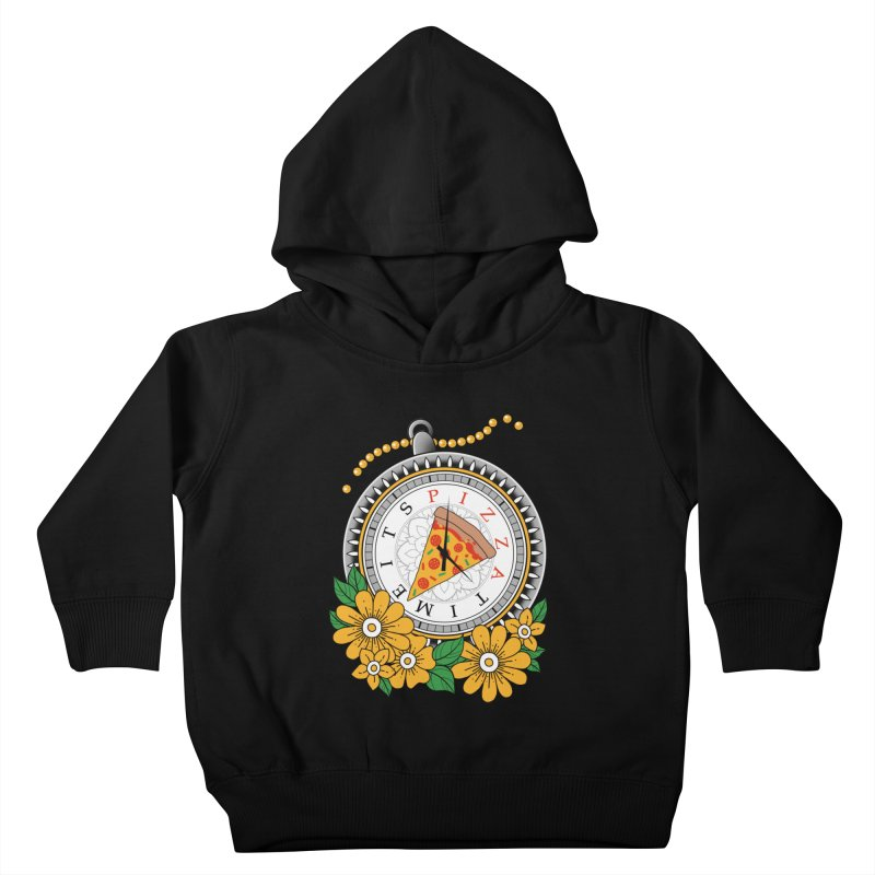 It's Pizza Time Kids Toddler Pullover Hoody by godzillarge's Artist Shop
