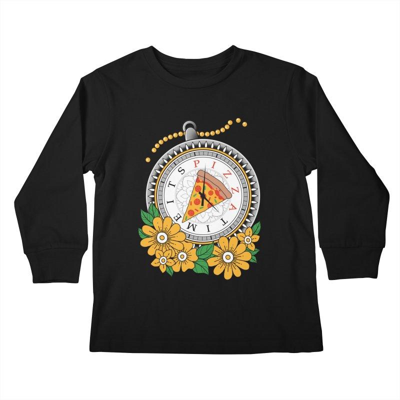It's Pizza Time Kids Longsleeve T-Shirt by godzillarge's Artist Shop