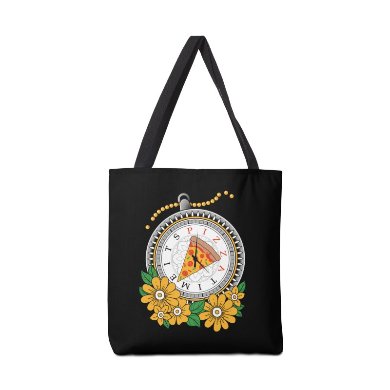 It's Pizza Time Accessories Tote Bag Bag by godzillarge's Artist Shop
