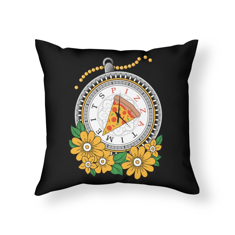It's Pizza Time Home Throw Pillow by godzillarge's Artist Shop