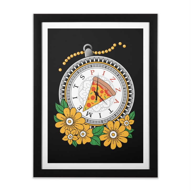 It's Pizza Time Home Framed Fine Art Print by godzillarge's Artist Shop
