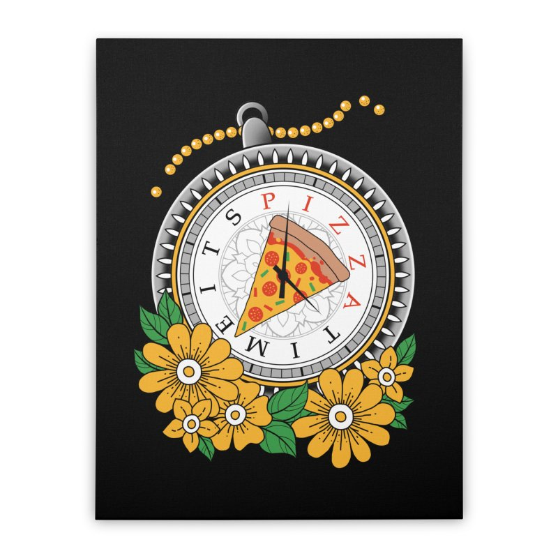 It's Pizza Time Home Stretched Canvas by godzillarge's Artist Shop