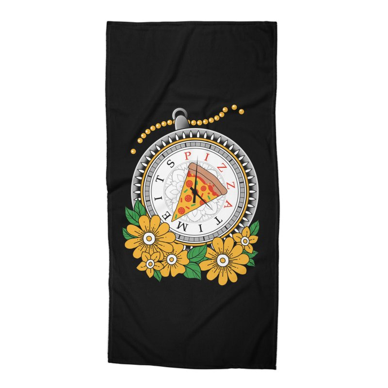 It's Pizza Time Accessories Beach Towel by godzillarge's Artist Shop