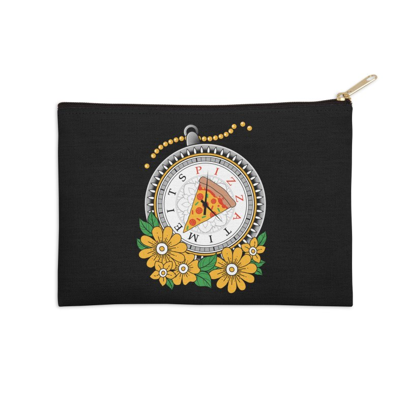 It's Pizza Time Accessories Zip Pouch by godzillarge's Artist Shop