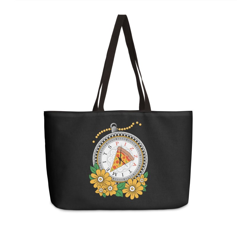 It's Pizza Time Accessories Weekender Bag Bag by godzillarge's Artist Shop
