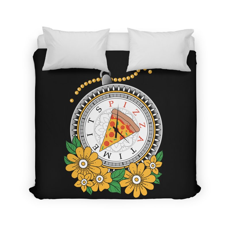 It's Pizza Time Home Duvet by godzillarge's Artist Shop