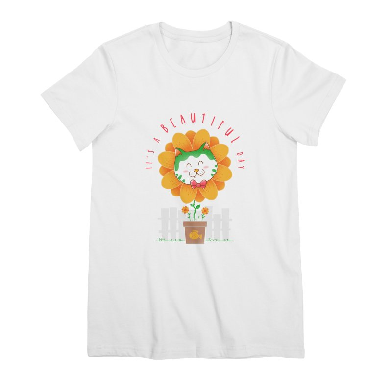 It's A Beautiful Day Women's Premium T-Shirt by godzillarge's Artist Shop