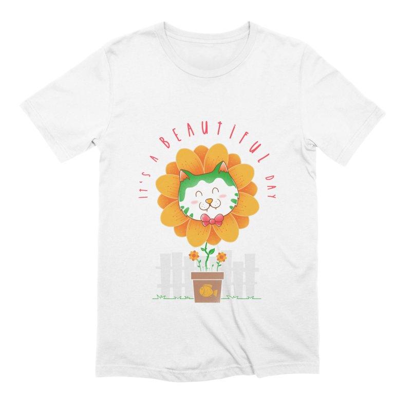 It's A Beautiful Day Men's Extra Soft T-Shirt by godzillarge's Artist Shop
