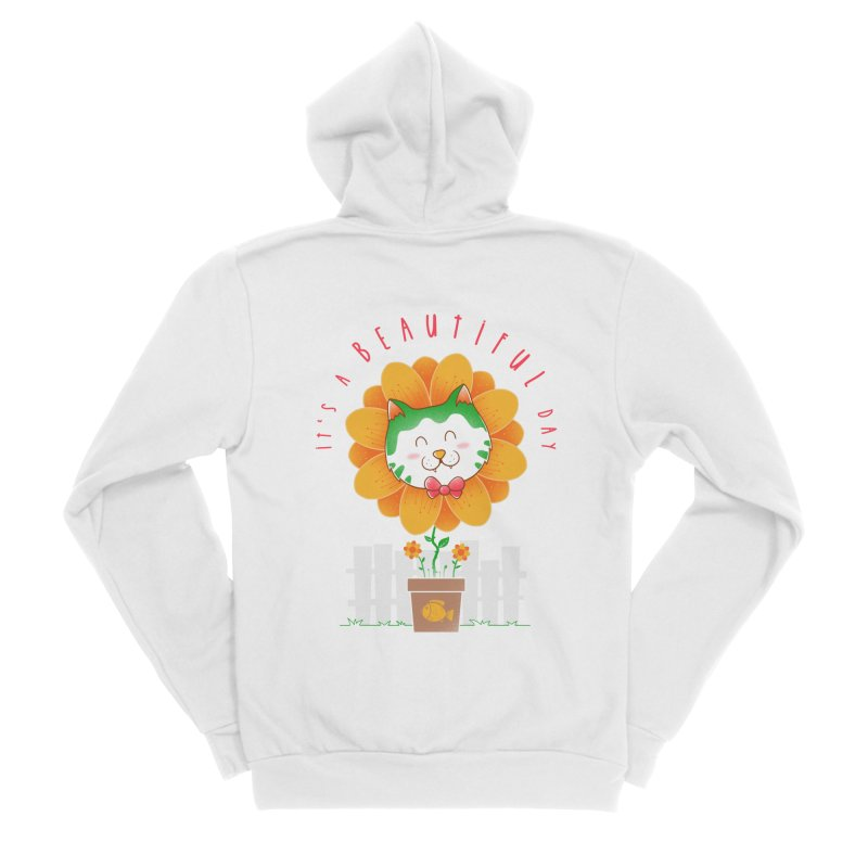 It's A Beautiful Day Men's Sponge Fleece Zip-Up Hoody by godzillarge's Artist Shop