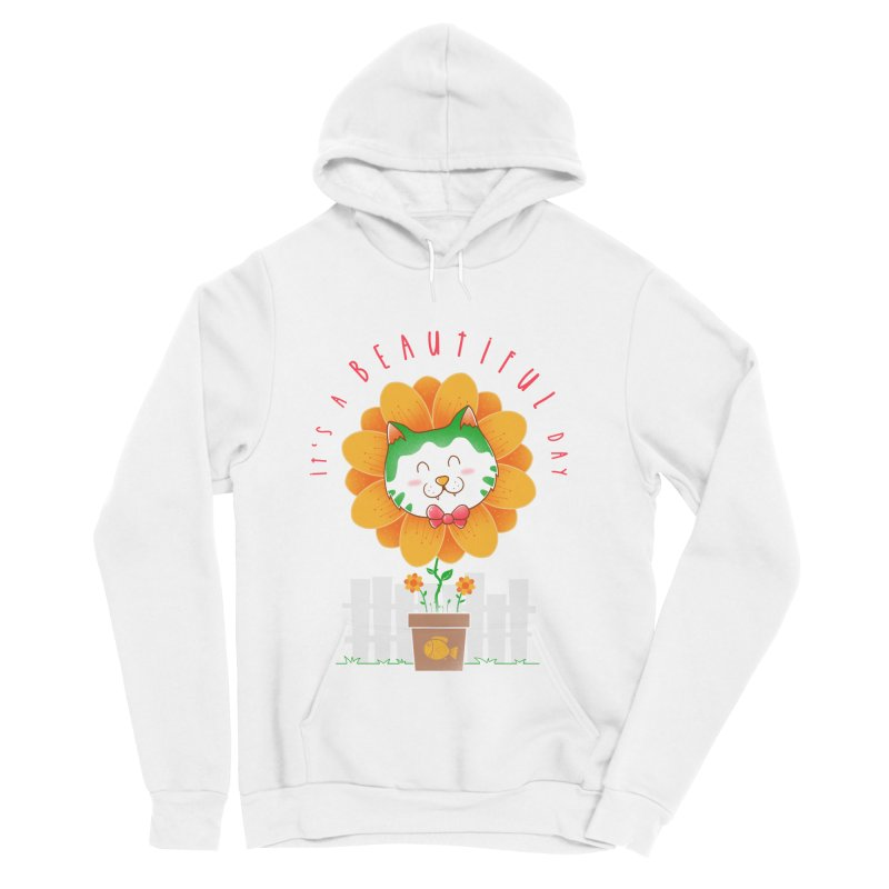 It's A Beautiful Day Men's Sponge Fleece Pullover Hoody by godzillarge's Artist Shop