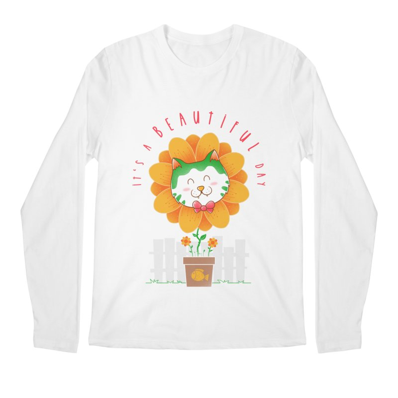 It's A Beautiful Day Men's Regular Longsleeve T-Shirt by godzillarge's Artist Shop