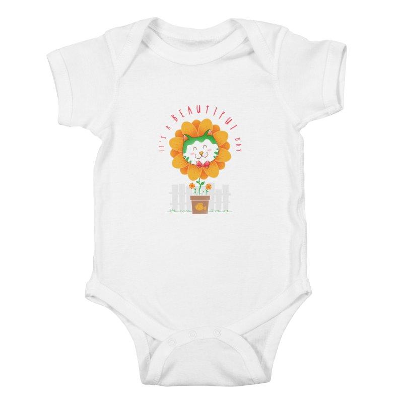 It's A Beautiful Day Kids Baby Bodysuit by godzillarge's Artist Shop