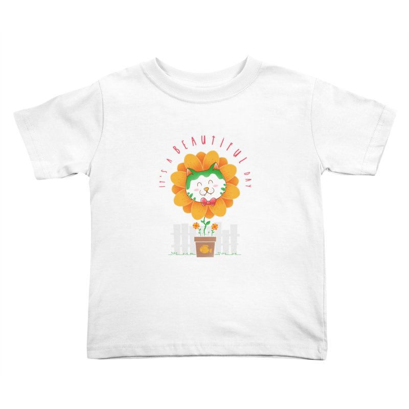 It's A Beautiful Day Kids Toddler T-Shirt by godzillarge's Artist Shop