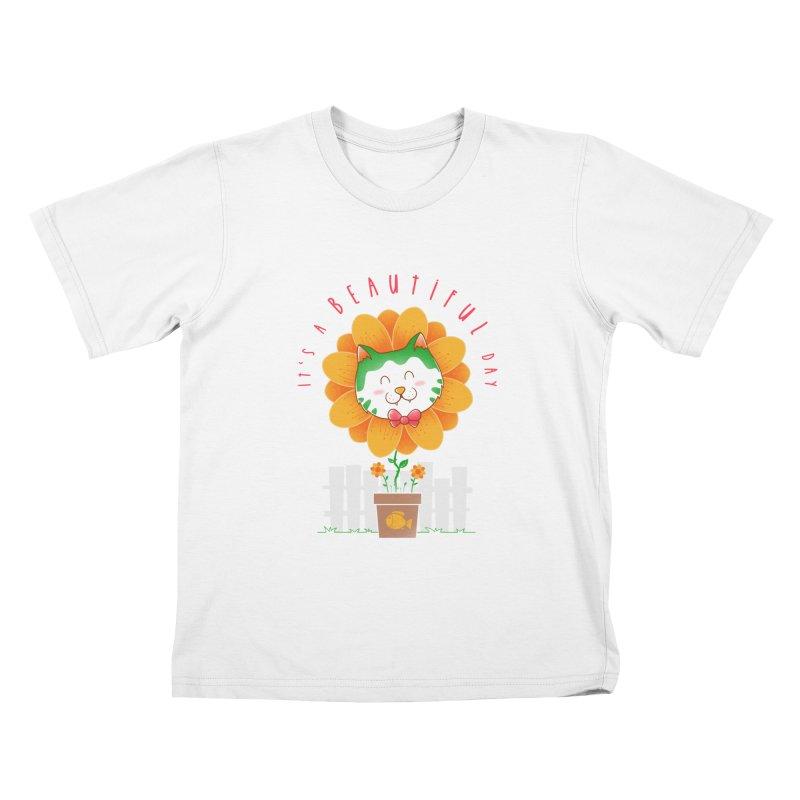 It's A Beautiful Day Kids T-Shirt by godzillarge's Artist Shop