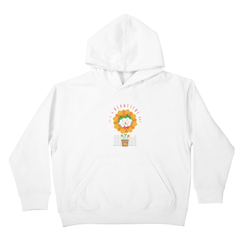 It's A Beautiful Day Kids Pullover Hoody by godzillarge's Artist Shop