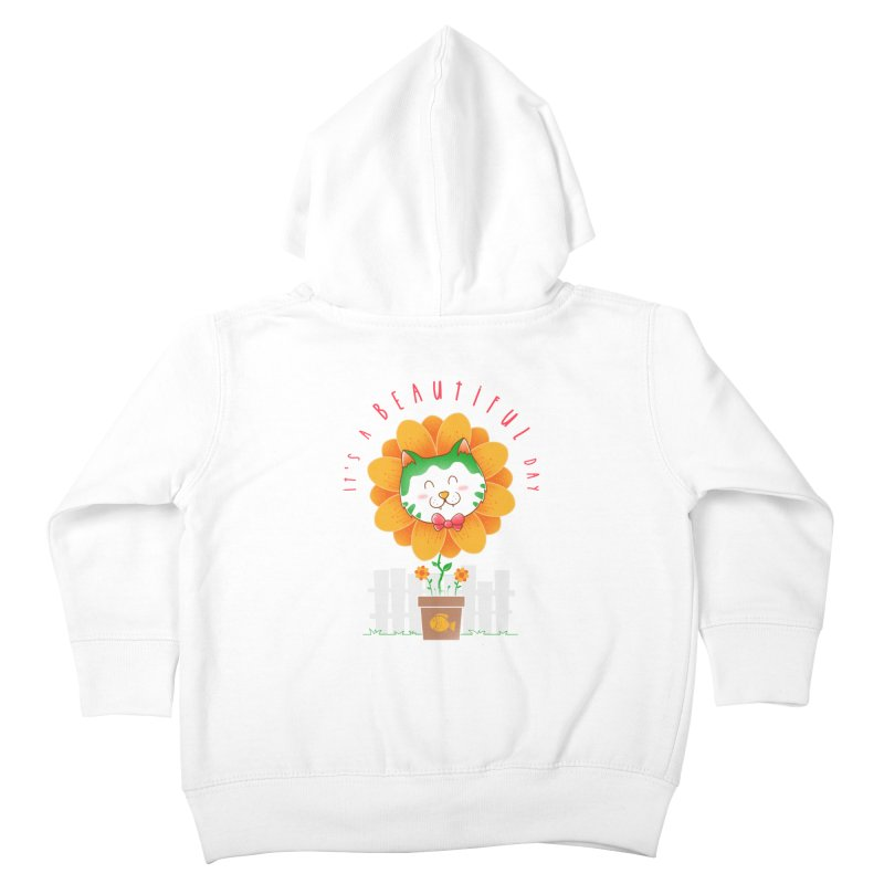 It's A Beautiful Day Kids Toddler Zip-Up Hoody by godzillarge's Artist Shop