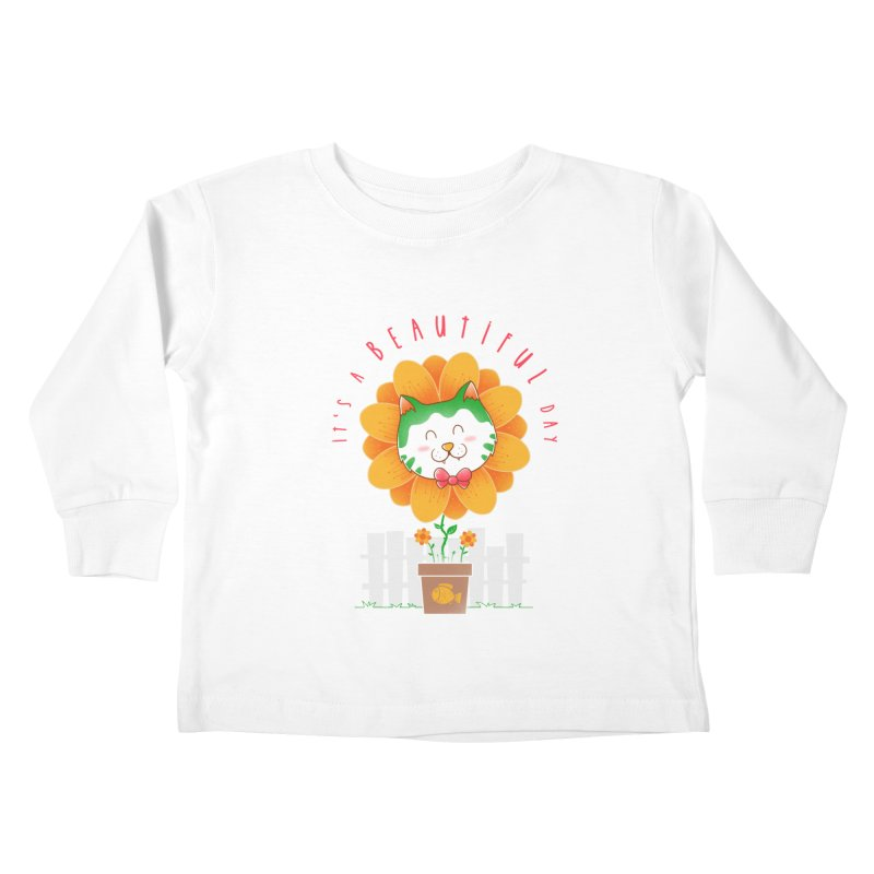 It's A Beautiful Day Kids Toddler Longsleeve T-Shirt by godzillarge's Artist Shop